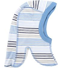 Joha Balaclava - Wool/Cotton - Blue Striped