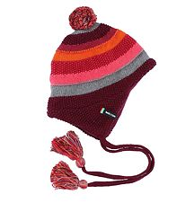 Melton Hat - Knitted - Red-Striped
