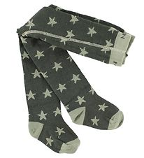 Melton Tights - Wool/Cotton - Army Green w. Stars