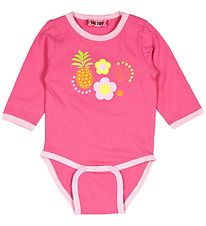 Me Too Bodysuit - L/S - Pink w. Fruit And Flowers