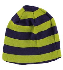 Mikk-Line Hat - Purple/Lime Striped