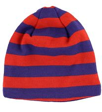 Mikk-Line Hat - Wool/Cotton - Purple/Orange Striped