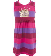 Danefæ Dress - Pink Striped w. Golden Crown