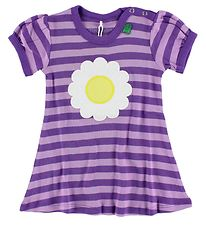 Freds World Dress - Purple Striped w. Daisy