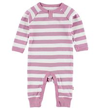 Katvig Classic Jumpsuit - White/Pink Striped