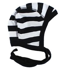 Katvig Classic Baby Hat - White/Black Striped