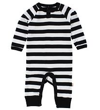 Katvig Classic Jumpsuit - White/Black Striped