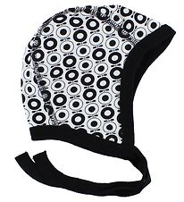 Katvig Classic Baby Hat - Black/White Apples