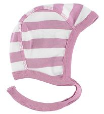 Katvig Classic Baby Hat - White/Pink Striped