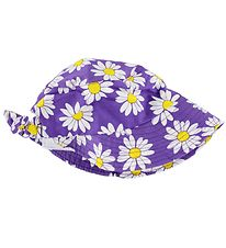 Smallstuff Sun Hat - Purple/Flowers w. Bow