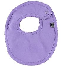 Smallstuff Teething Bib - Lavender w. Lace Edge