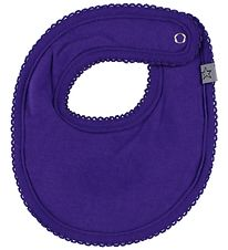 Smallstuff Teething Bib - Purple w. Lace