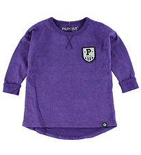 Papfar Blouse - Purple Melange w. Badge