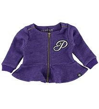 Papfar Zip Cardigan - Purple Melange