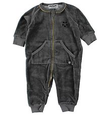 Papfar Coverall - Charcoal w. Gold
