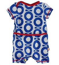 Katvig Classic Coverall Swimsuit - UV50+ - White/Red w. Blue App