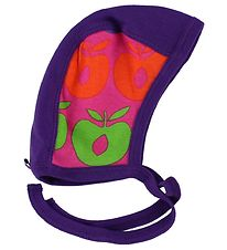 Småfolk Baby Hat - Purple/Pink w. Multi Apples