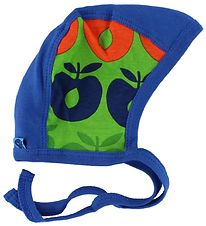 Småfolk Baby Hat - Blue/Green w. Apples