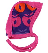 Småfolk Baby Hat - Pink/Purple w. Apples