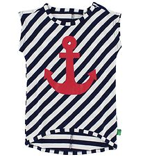Freds World Tunic - Navy/White w. Anchor