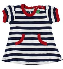 Freds World Dress - Navy/White Striped w. Red Edge