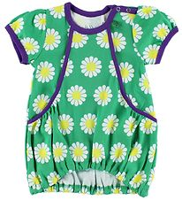 Freds World Dress - Green/Purple w. Daisies