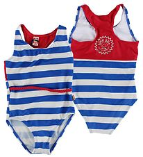 Katvig Classic Swimsuit - UV50+ - Blue/White Striped