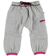 Katvig Sweatpants - Grey Melange w. Pink