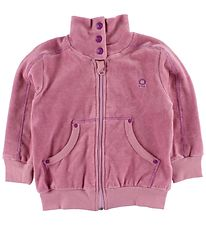 Katvig Zip Cardigan - Velvet - Rose w. Zipper