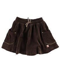 Katvig Velvet Skirt - Dark Brown