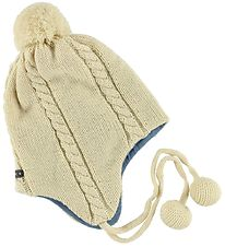 Mini A Ture Hat - Knitted - Wool/Cotton - Mires - Ivory/Light Bl