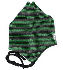 Reima Hat - Knitted - Kirjava - Wool/Polyester - Green/Grey