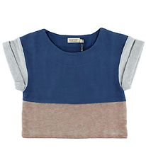 MarMar Crop Top - Blue/Grey/Vintage Rose
