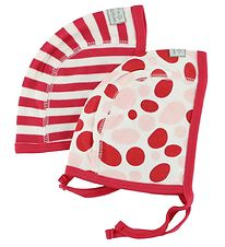 Bombibitt Baby Hat - 2-Pack - Red/Ivory w. Dots