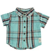 Small Rags Shirt - Turquoise Check