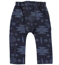 Knast By Krutter Cotton Trousers - Navy w. Aztec