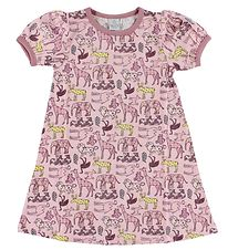 Smallstuff Dress - Light Rose w. Animals