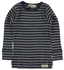 MarMar Blouse - Navy/Grey Striped