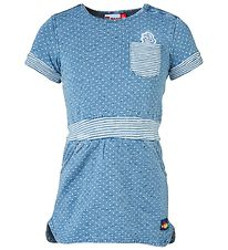 Lego Duplo Dress - Denim/Stripes w. Dots