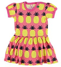 Freds World Dress - Coral w. Pineapple Print