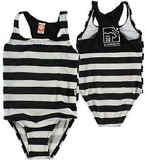 Katvig Classic Swimsuit - UV30 - Black/White Striped