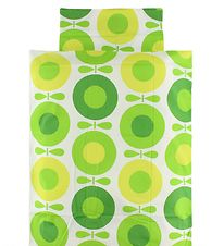 Katvig Classic Duvet Cover - Baby - White w. Green Apples