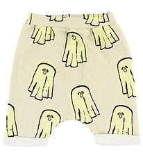 Popupshop Baggy Shorts - Ivory w. Ghosts