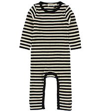 MarMar Jumpsuit - Black/Ivory Striped