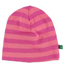 Freds World Beanie - Pink/Coral Striped