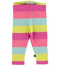 Freds World Leggings - Yellow/Pink/Mint Striped