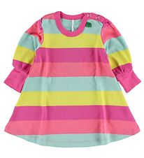 Freds World Dress - Yellow/Pink/Mint Striped