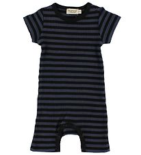 MarMar Summer Romper - Rib - Navy/Black Striped