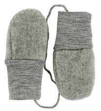 Engel Mittens - Wool - Grey Melange