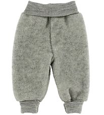 Engel Trousers - Wool - Grey Melange